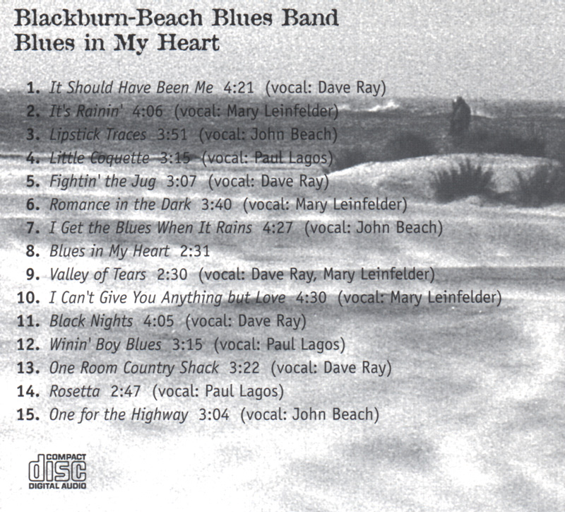Blackburn Beach Blues Band back cover