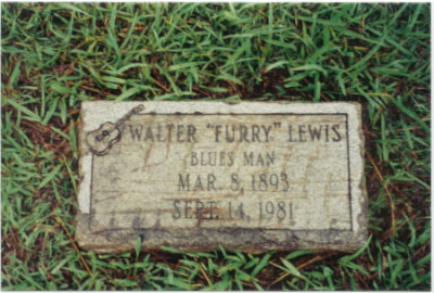 Furry Lewis' grave