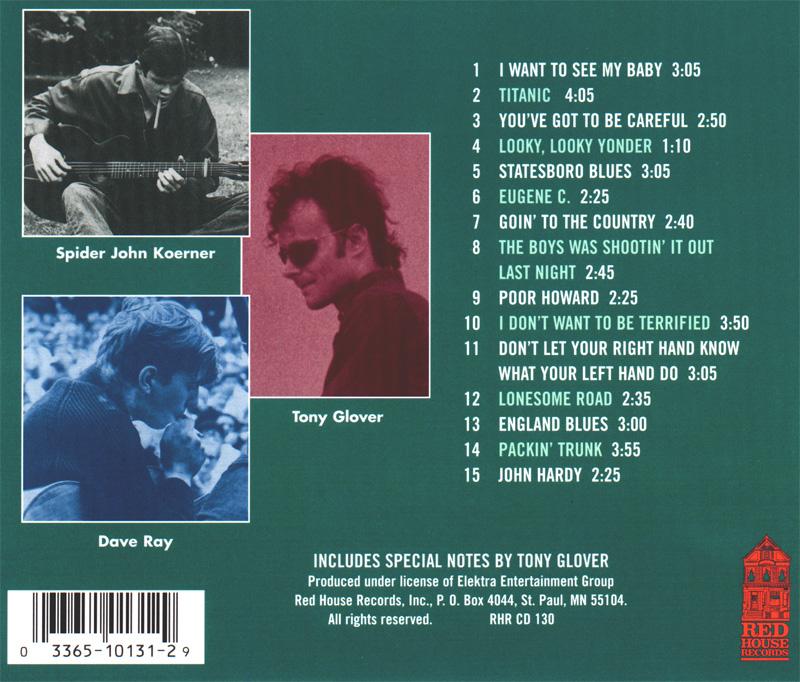 The Return of Koerner, Ray & Glover back cover